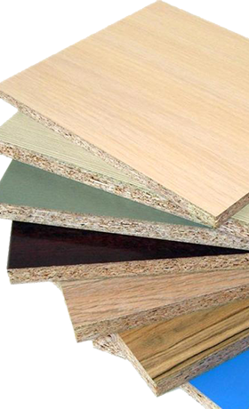 Laminated chipboard